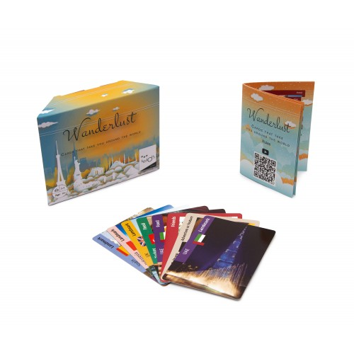 Nonserious Games Wanderlust: Travel Card Game for Indoors & Outdoors | with Country Flags and Location High Quality Pictures | Age: 14+