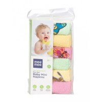 Mee Mee Absorbent Baby Mini Napkins (6 Pieces) (Assorted Colours)