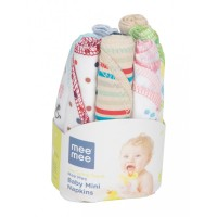 Mee Mee Mini Baby Napkins (8 Pieces) (Assorted Colours)