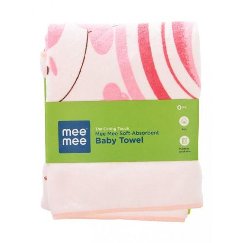 Mee Mee Soft Absorbent Baby Towel (Pink)