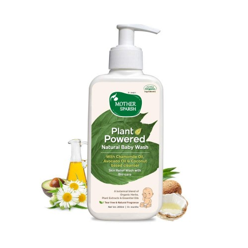 Mother Sparsh Plant Powered Natural Baby Wash, 200 ml