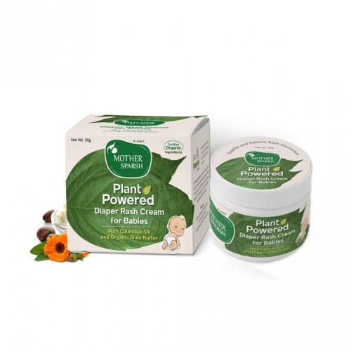 Mother Sparsh Plant Powered Diaper Rash Cream for Babies, 50 gm