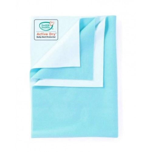 Buddsbuddy Active Dry Baby Bed Protector/Water Proof Sheet/Absorbent Sheet/Dry Sheet - Aqua Blue