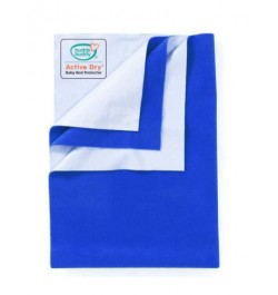 Buddsbuddy Active Dry Baby Bed Protector/Water Proof Sheet/Absorbent Sheet/Dry Sheet - Cobalt