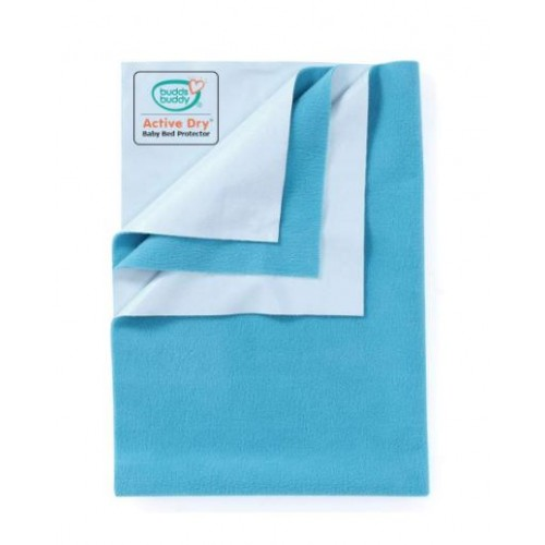 Buddsbuddy Active Dry Baby Bed Protector/Water Proof Sheet/Absorbent Sheet/Dry Sheet - Deep Sea Blue
