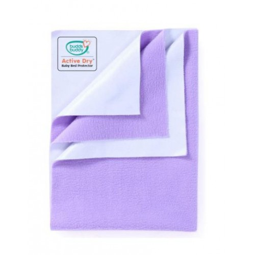 Buddsbuddy Active Dry Baby Bed Protector/Water Proof Sheet/Absorbent Sheet/Dry Sheet - Lilac