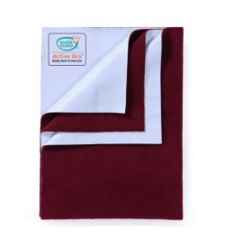 Buddsbuddy Active Dry Baby Bed Protector/Water Proof Sheet/Absorbent Sheet/Dry Sheet - Maroon