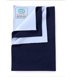 Buddsbuddy Active Dry Baby Bed Protector/Water Proof Sheet/Absorbent Sheet/Dry Sheet - Navy Blue