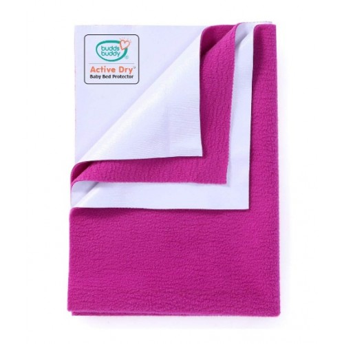 Buddsbuddy Active Dry Baby Bed Protector/Water Proof Sheet/Absorbent Sheet/Dry Sheet - Orchid