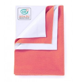 Buddsbuddy Active Dry Baby Bed Protector/Water Proof Sheet/Absorbent Sheet/Dry Sheet - Peach