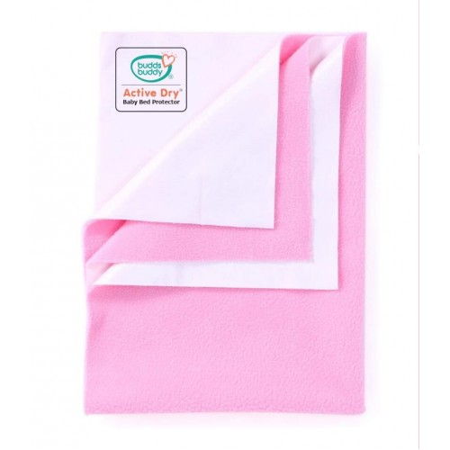 Buddsbuddy Active Dry Baby Bed Protector/Water Proof Sheet/Absorbent Sheet/Dry Sheet - Pink