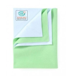 Buddsbuddy Active Dry Baby Bed Protector/Water Proof Sheet/Absorbent Sheet/Dry Sheet - Pista Green
