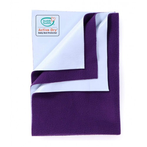 Buddsbuddy Active Dry Baby Bed Protector/Water Proof Sheet/Absorbent Sheet/Dry Sheet - Plum