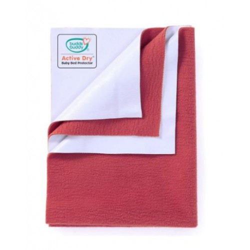 Buddsbuddy Active Dry Baby Bed Protector/Water Proof Sheet/Absorbent Sheet/Dry Sheet - Red