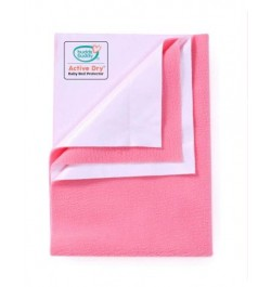 Buddsbuddy Active Dry Baby Bed Protector/Water Proof Sheet/Absorbent Sheet/Dry Sheet - Salmon Rose