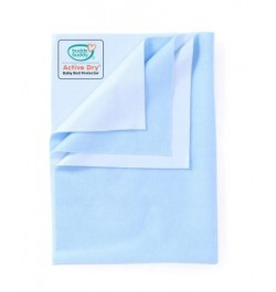 Buddsbuddy Active Dry Baby Bed Protector/Water Proof Sheet/Absorbent Sheet/Dry Sheet - Sky Blue