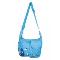 Mee Mee Lightweight Compact Diaper Bag (Light Blue)