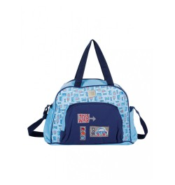 Mee Mee Multipurpose Nursery Diaper Bag with Changing Mat(Blue)