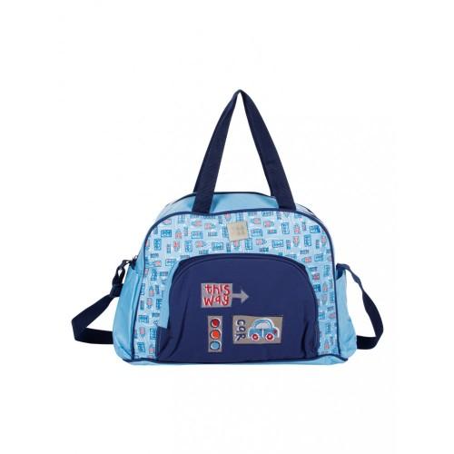 Mee Mee Multipurpose Nursery Diaper Bag with Changing Mat(Blue)