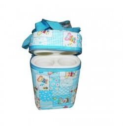 Buy Multi Purpose Baby Diaper Bag with 2 Bottle Warmer Holders (Sky Blue) Online in India