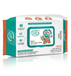 Buy Buddsbuddy Baby Skincare Wet Wipes, 100 Pcs (60gsm) Online in India