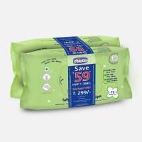 Chicco Soft Cleansing Wipes-Bi-Pack 144 pcs (Super Saver pack)