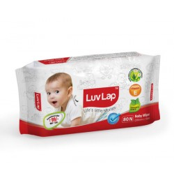 Luvlap Baby Wipes – 80'S Pack