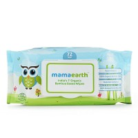 Mamaearth Organic Bamboo Based Baby Wipes, 72pcs