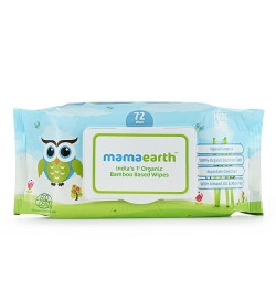 Buy Mamaearth Organic Bamboo Based Baby Wipes, 72pcs Online in India