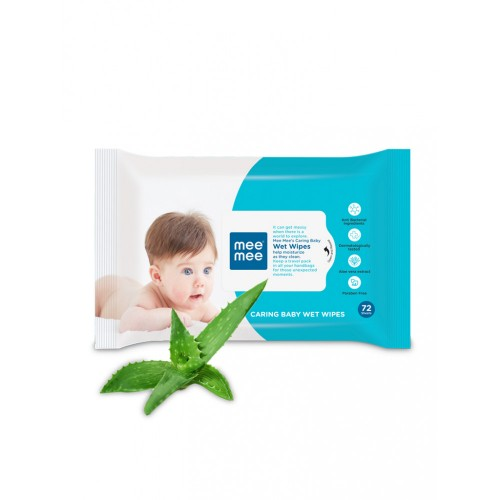 Mee Mee Caring Baby Wipes with Aloe Vera (72pcs) (Pack of 3)