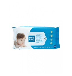 Buy Mee Mee Caring Baby Wipes with Aloe Vera & Lemon (72pcs) (Pack of 3) Online in India