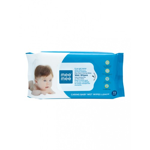 Mee Mee Caring Baby Wipes with Aloe Vera & Lemon (72pcs) (Pack of 3)