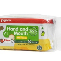 Pigeon Hand And Mouth Wipes 20S, 2 In 1