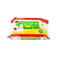 Pigeon Hand And Mouth Wipes 60S, 2 In 1