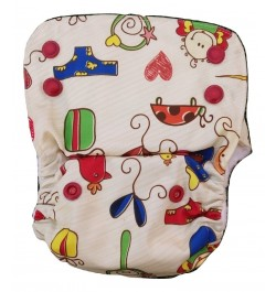 Baby Doodle - Nano All-in-one Trim Cloth Diapers With 2 Organic Cotton Inserts - 4 Kgs To 15 Kgs One Size
