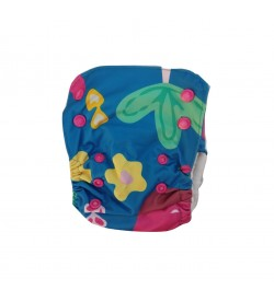 Random Jungle - Nano All-in-one Trim Cloth Diapers With 2 Organic Cotton Inserts - 4 Kgs To 15 Kgs One Size