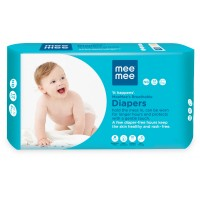 Mee Mee Premium Breathable Baby Diapers with Wetness Indicator (New Born)