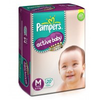 Pampers Active Baby Diapers Medium - 20 Pieces