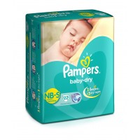 Pampers Baby Dry Diapers New Born To Small - 22 Pieces