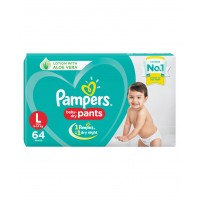 Pampers Baby-Dry Pants Large - 64 Pieces
