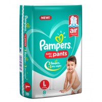 Pampers Baby-Dry Pants Large - 8 Pieces