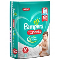 Pampers Baby-Dry Pants Medium - 8 Pieces