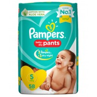Pampers Baby-Dry Pants Small - 58 Pieces