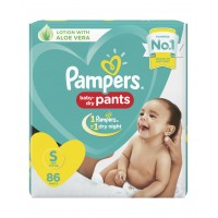 Pampers Baby-Dry Pants Small - 86 Pieces
