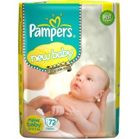 Pampers New Baby Diapers Newborn - 72 Pieces