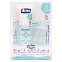 Chicco Gum Gel With Finger Toothbrush Starting 4m+