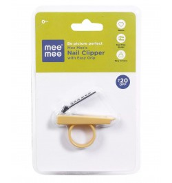 Mee Mee Gentle Nail Clipper with Easy Grip (Yellow)