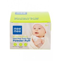 Mee Mee Soft Feel Powder Puff with Powder Container (Blue)