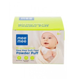 Mee Mee Soft Feel Powder Puff with Powder Container (Pink)
