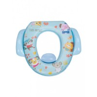 Mee Mee Cushioned Non-Slip Potty Seat with Easy Grip Handles Pee Shield(Light Blue)